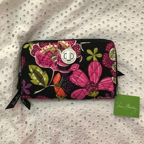 Vera Bradley Handbags - NWT Vera Bradley Turnlock Wallet Pirouette Pink